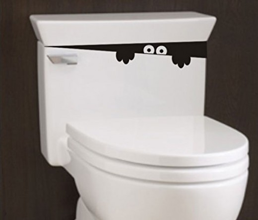 Toilet Monster decal sticker