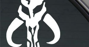 Disdain for the Force? STAR WARS MANDALORIAN SKULL BOBA FETT Sticker