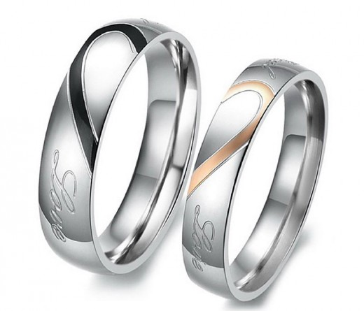 Heart Stainless Steel Band Ring