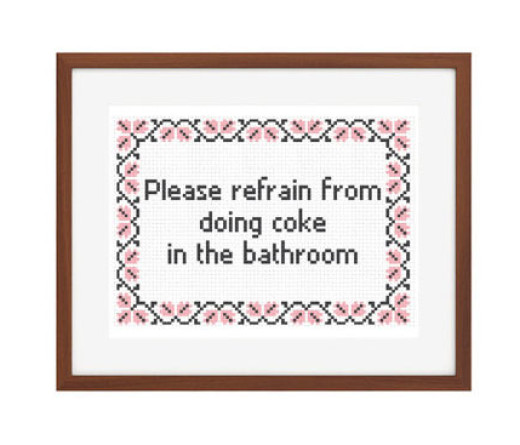 No coke in bathroom