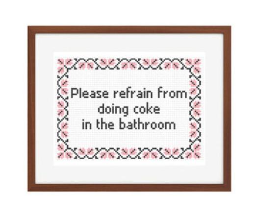 No coke in bathroom