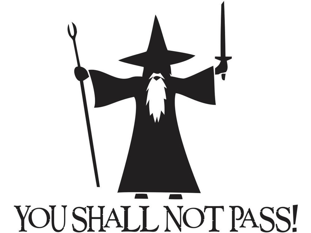 You Shall Not Pass! - Gandalf
